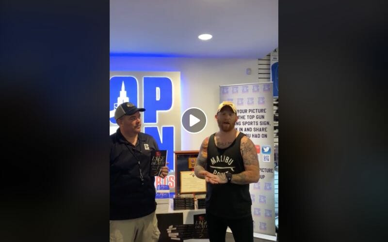 Brad Fite talking about his new book at Top Gun